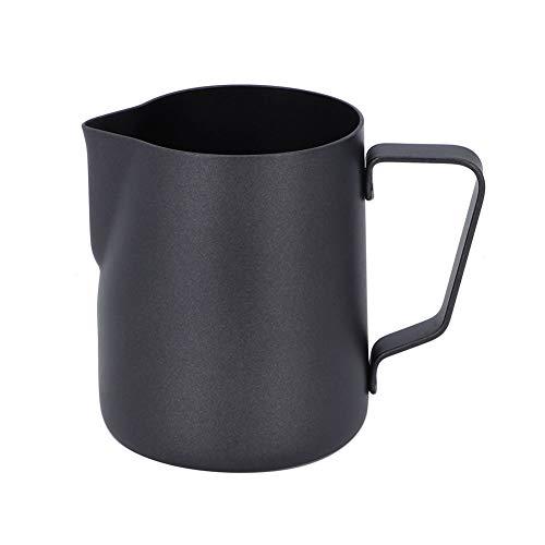 Jarra de espuma de leche de 12 oz/350 ml, Jarritas para leche para Café y Latte Art, Negro