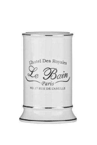 Premier Housewares Le Bain Verre à Dents en céramique Blanc