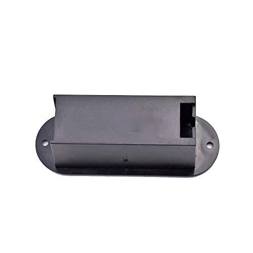Goodplan 9 V Batteriefach für Gitarre Pickup Batteriehalter Batterie Box Kunststoff Musikinstrument Zubehör Schwarz 1 Stücke