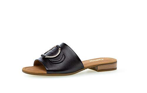Gabor Sandalias para mujer, tallas moderadas, ancho G, color Negro, talla 44 EU