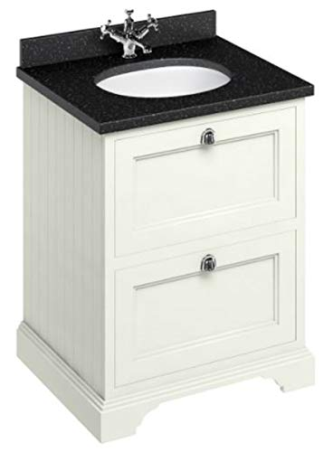 Casa Padrino Waschschrank/Waschtisch mit Granitplatte und 2 Schubladen - Limited Edition, Farbe Badmöbel:Sand