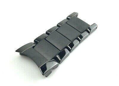 Für Emporio Armani AR1451 Armbanduhr, Keramik, Schwarz, 22 mm