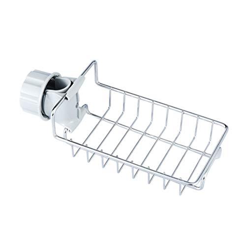 Suszian Küchenwasserhahn-Abtropfgestell, Waschbecken-Aufbewahrungsregal, Edelstahl, Wasserhahn, hängende Spüle, Lagerregal für Badezimmer und Küche