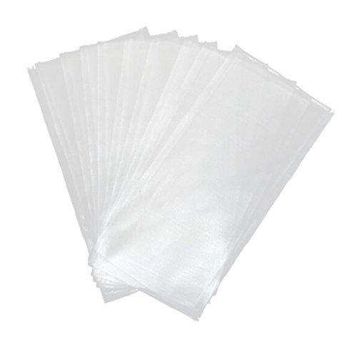 Generic 50 Stück/Pack Wasserlöslich PVA Bags/PVA Beutel/PVA Tüten für Karpfenköder - Köder Beutel - 8x16cm