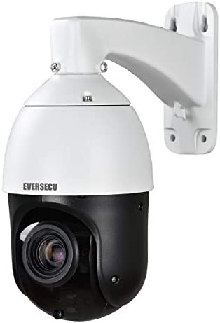EVERSECU 1080p Auto Tracking 30x Zoom IP PTZ CCTV Camera with an External POE Splitter RTSP product image