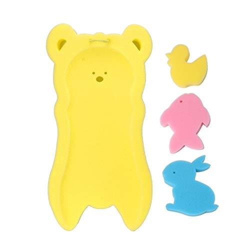 GuanXian Baño Infantil Mat de baño Baño Bañera Esponja Recién Nacido Antideslizante Sponge Pad Baby Bath Tub Bañera Cojín de baño Ducha Infantil Cuidado del bebé (Color : 3)