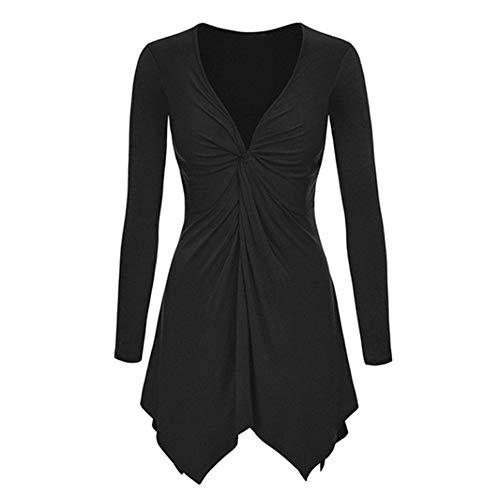 N\P Blusa plisada de las mujeres irregulares Tops ocasionales del otoño de las señoras suel