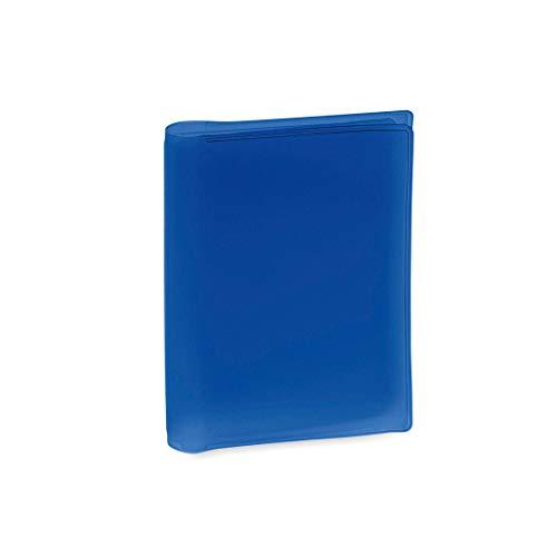 Tarjetera de Plástico PVC Transparente con 6 Compartimentos Práctica Funda para Guardar Tarjetas (Azul)