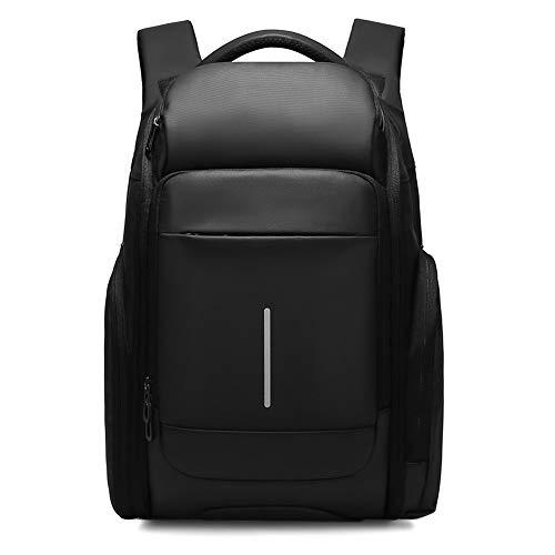 ZwqZwq Business-Rucksack 15,6-Zoll-Laptop-Beutel-Rucksack der Männer Handtasche Schwarz mit hohen Kapazität Travel Bagleather Umhängetasche Höhe 47cm Breite 32cm Dick 18Cm