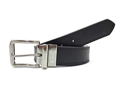 AZ by Alexander Zar Men's Reversible Casual Genuine Leather Belt, 38 Milimeters Wide, Size 34, Black/Brown