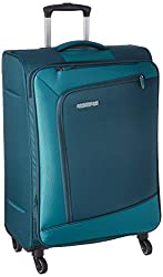 American Tourister Vermont Polyester 82.5 cms Emerald Softsided Check-in Luggage (FV9 (0) 54 003),SAMSONITE SOUTH ASIA PVT. LTD,FV9 (0) 54 003