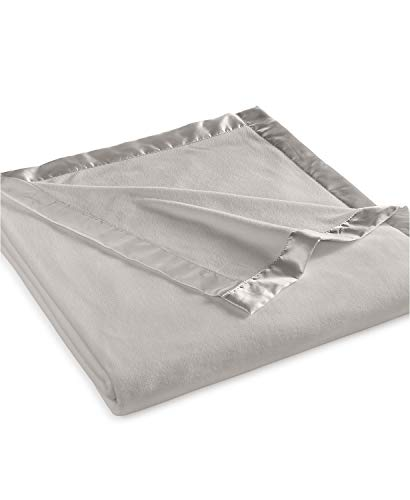 Martha Stewart Easy Care Soft Fleece Blanket (King, Gray)