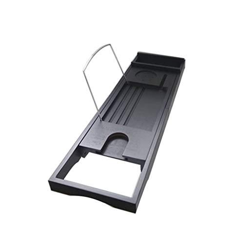 TO Tablette de baignoire, support de rangement multi-fonctions antidérapant pour baignoire/plateau de baignoire rétractable, noir