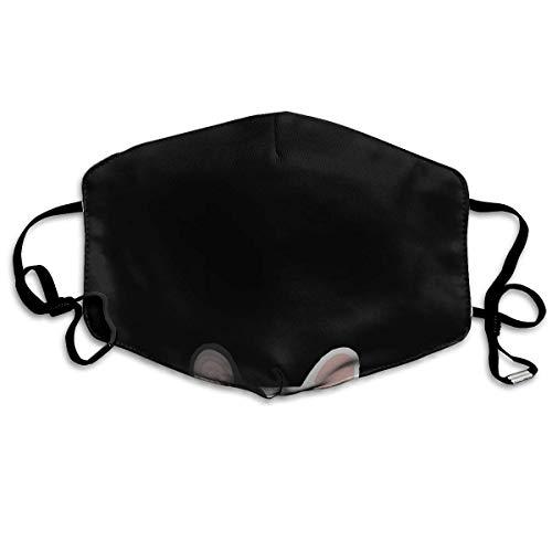 Anti Staub Mundschutz Adult Bandana Tier Niedlich Französische Bulldogge Hund Schwarz Gesichtsdekorationen Waschbarer Stoff Gesichtsschutz