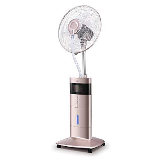 Ventilador Nebulizador Extractor Ventilador de nebulización 3 Modos de Viento Ventilador de nebulización seco ultrasónico con tecnología Bluetooth Humidificación y enfriamiento Ventilador de ventila