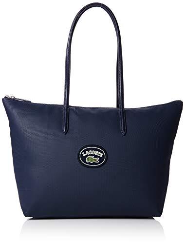 Lacoste - Nf2614cf, Bolsos totes Mujer, Azul (Peacoat Badge), 14x30x35 cm (W...