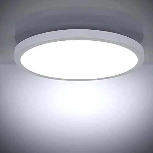 LED Lámpara de Techo 18W 6500K, Leelike Cuadrado Plafon LED Techo Modern 1620LM Plafón Led para baño Dormitorio Cocina Sala de estar Comedor Balcón Pasillo Oficina