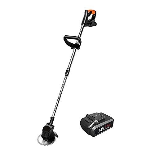 Cortadora de césped portátil inalámbrica, cortadora de Hilo eléctrica inalámbrica con 1...
