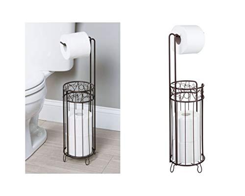 iDesign Twigz Bath, Free Standing Toilet Paper Roll Holder for Bathroom Storage - Bronze
