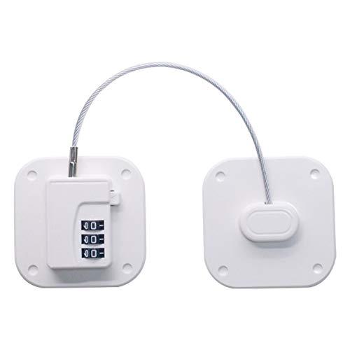 ZDYS Cerradura para nevera, mini cerradura de nevera con 3 contraseñas digitales para gabinete de seguridad infantil con adhesivo fuerte para congelador, archivador, puerta, cajón, armario