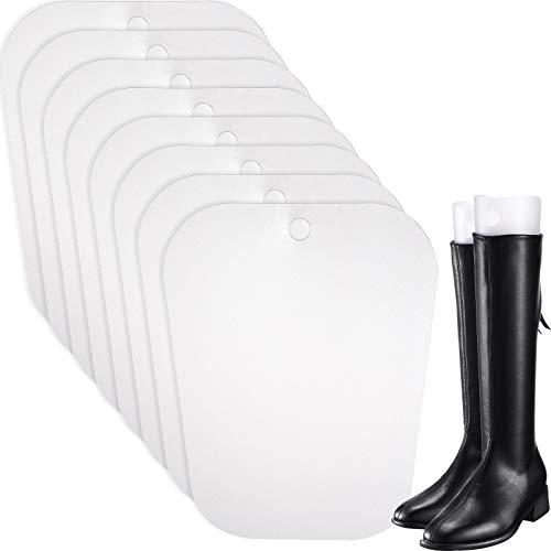 Bememo 8 Packungen Stiefelspanner Form Einsätze Hoch Stiefel Stütze für Damen und Männer (Transparent, 12 Zoll)
