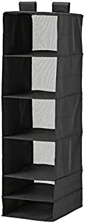 Ikea skubb Storage with 6 compartments, Black, 35x45x125 cm (13 ¾x17 ¾x49 ¼)