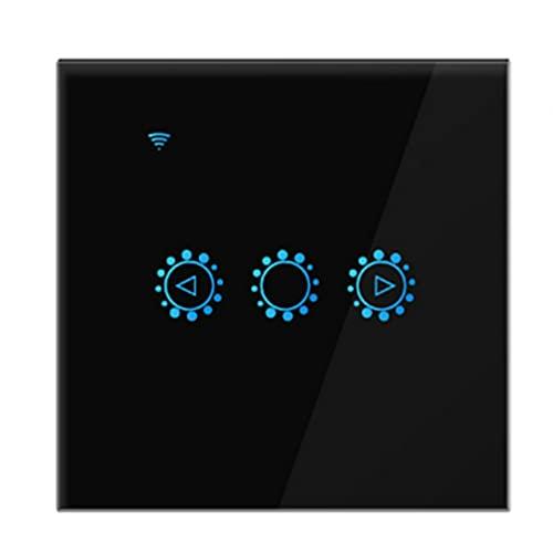 WiFi Wall Dimming Touch Remote Interruptor Inteligente Interruptor de Temporizador Botón de Control Aplicación de teléfono móvil y Alexa Interruptor de atenuación de Voz Negro