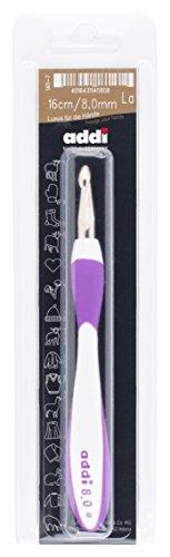 Addi Swings Griff, Stärke 8, 00 mm Häkelnadel, Aluminium mit Kunststoff, Mehrfarbig, 24 x 6.5 x 2 cm