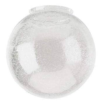 Dysmio Lighting 6-Inch Diameter Globe - 3-1/4-Inch Fitter Opening Handblown Clear Seeded Glass Globe