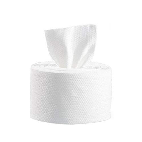 Dry Wipes Toallitas piel simple maquillaje Sensitive Wipes de tejidos de algodón de la piel facial almohadillas de algodón de un solo uso scrubbedsing Toalla Blanca 280G Belleza y Cuidado de la Piel