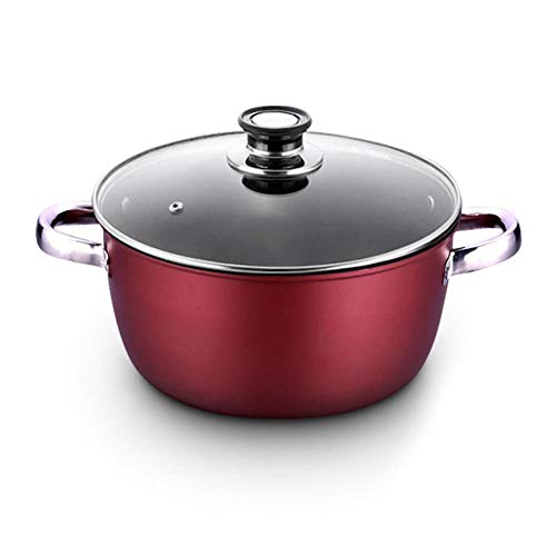 Suppentopf Antihaft-Topf dicke Suppe Suppentopf kochen Nudeln Hot Milk Porridge Pot-Gas-Kocher Universal-Induktions-Pot Instant-Pot,26cm 5300ML