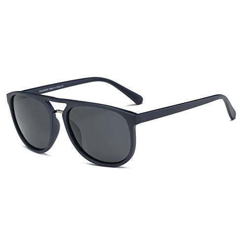 AKCESSORYZ Gafas de sol polarizadas estilo aviador retro clásico, redondas, estilo aviador