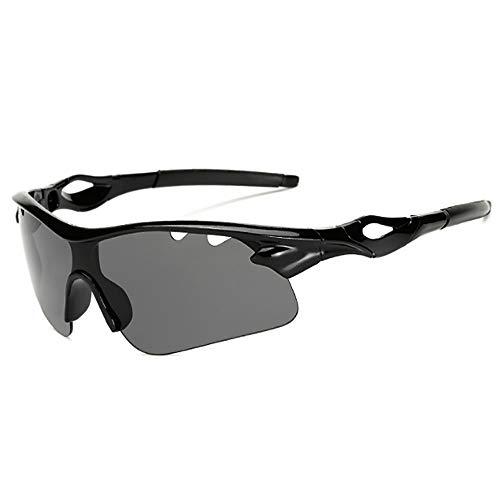 HUIHUAN Radfahren Brille Fahrer Fahren Sonnenbrille Sonnenbrille Flut Menschen Reiten Explosionsgeschützte Brille Nachtsicht Spiegel Sport Spiegel,Black