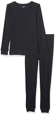Amazon Essentials Women's Thermal Long Underwear Set, Black, XX-Large