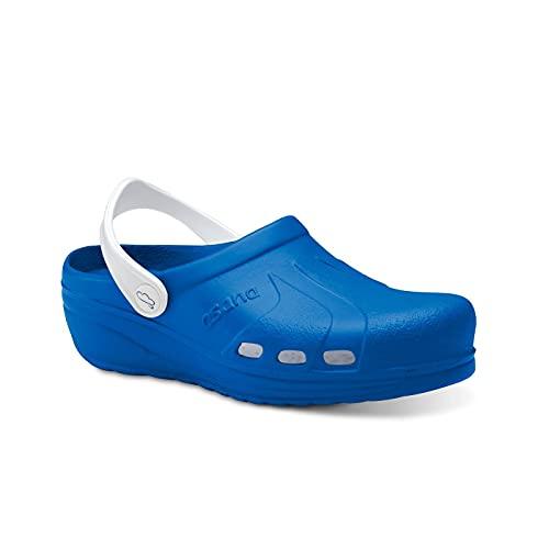 Feliz Caminar - Zuecos Sanitarios Asana Azul eléctrico/Blanco, 37