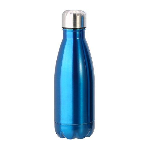 VGEBY1 Bottiglia di Acqua in Acciaio Inox, Tazza di Bottiglia di Isolamento di Vuoto Anti-Perdita di Grande capacità per Il Campeggio in Bicicletta Sport Mantiene Calda e Fredda(1000ML-blu)