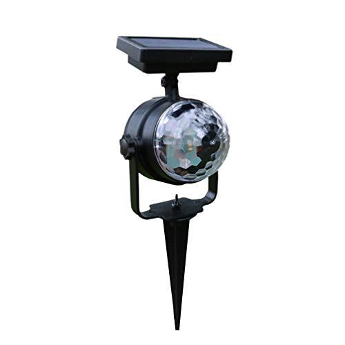 LEDMOMO Projecteur solaire de Noël rotatif pour pelouse, anniversaire, fête, KTV, mariage, extérieur