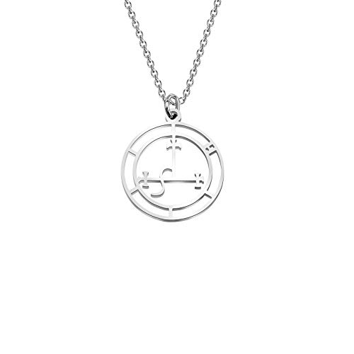 Lywjyb Birdgot Sigil of Lilith Necklace Seal Lilith Jewelry Pagan Necklace Mythology Jewelry Witchcraft Gift Pagan Sigil of Lilith Gift (Lilith ne)