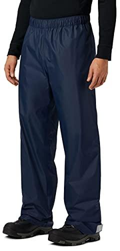 KOUDYEN Pantalones Lluvia Impermeable Hombre Ligero Transpirable Pantalones Trekking Ciclismo Moto Hombre Aire Libre YK5415M-DarkBlue-L