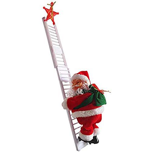 Bravolife Babbo Natale, Giocattoli Giocattoli elettrici di Natale Bambini, Scala da Arrampicata elettrica Babbo Natale Babbo Natale Figurine di Natale Ornamento Decorazione Regali