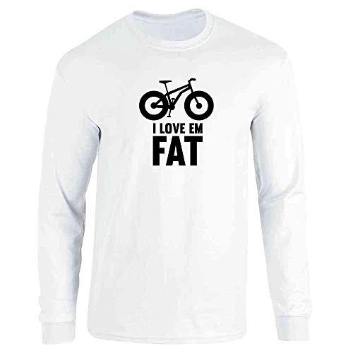 I Love Em Fat - Mountain Bike Tires White XL Long Sleeve T-Shirt