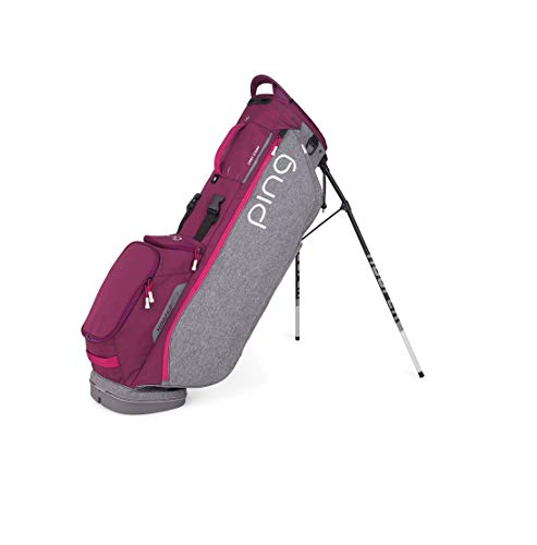 Lowest Prices! PING New Hoofer Lite Stand Golf Bag [Heather Grey/Garnet/Magenta]