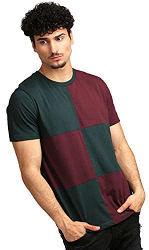 AELOMART Men's Cotton T Shirt (AWT1272-PN,Green)