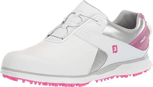 Footjoy Damen Wn Pro Sl Golfschuh, Weiß Rosa, 42 EU