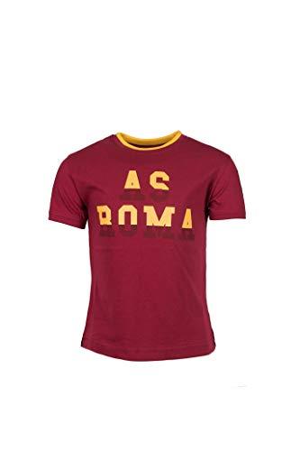 AS Roma Camiseta Cuello Redondo Niños, Rojo, Talla única 4-5 años