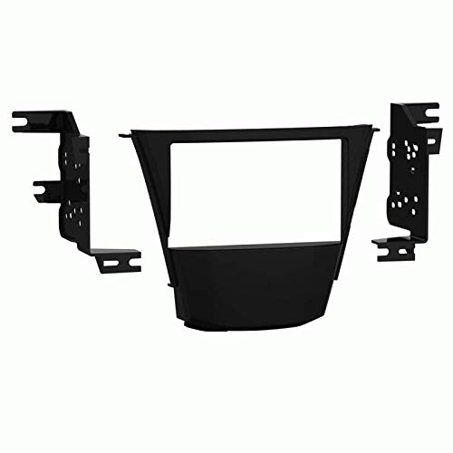 Carxtc Double Din Install Car Stereo Dash Kit for a Aftermarket Radio Fits 2007-2013 Acura MDX Trim Bezel is Painted Matte Black