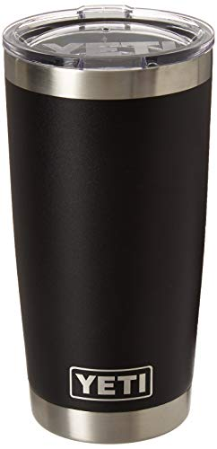 YETI Rambler 20 oz Stainless Steel Vacuum Insulated Tumbler with Lid, Black