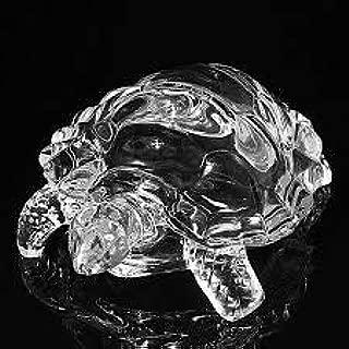 King International Chinese Feng Shui Glass Tortoise   Vastu Turtle   Large 12 cm, 160 g- for Prosperity Success & Long Life FENG Shui Tortoise Turtle Glass Statue Lucky Gift of Good Health