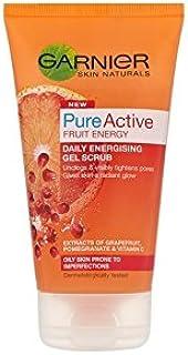 Garnier Skin Naturals Pure Active Energising Gel Scrub (150ml) - 純粋な活性通電ゲルスクラブ(150ミリリットル)ガルニエ皮膚ナチュラル [並行輸入品]