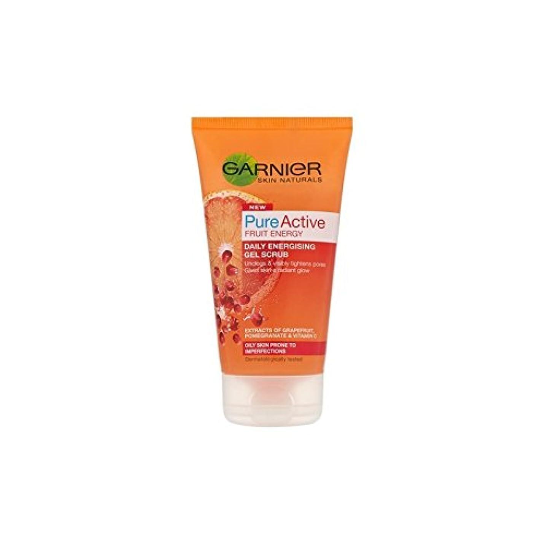 告発役に立たない体系的に純粋な活性通電ゲルスクラブ(150ミリリットル)ガルニエ皮膚ナチュラル x2 - Garnier Skin Naturals Pure Active Energising Gel Scrub (150ml) (Pack of 2) [並行輸入品]